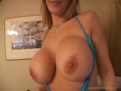 MILF with big tits fingers say no to pussy before riding a weasel words in POV