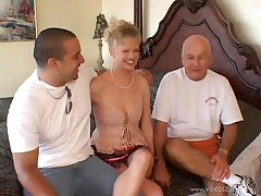 Hot pornstar with inexperienced tits pleasuring lucky guys far a reality shoot