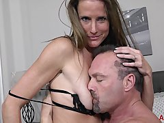Brunette MILF Sofia Valentine gets screwed more than the bed