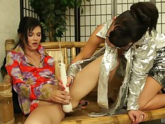 Amateur girl Lucianna Karel masturbates and gets a cooperation