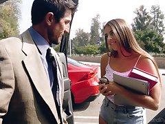 Filthy pupil babe fro shorts Gia Derza seduces old math teacher