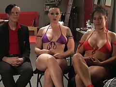 Domineer babe Ariel X gets dominated by strong woman Mistress Kara