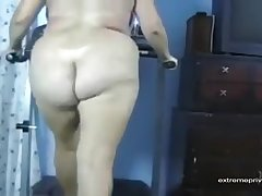 My wife likes to do a naked treadmill workout without of far our presence.
