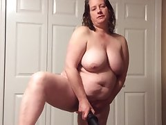 BBW mom with hairy pussy in the matter of panties and BBC fantasy