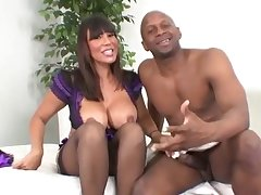 Ahead to Interracial Cougars Scene with Ava Devine