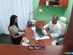 Brunette hottie Jasmine Jae fucked in the doctor's office. HD