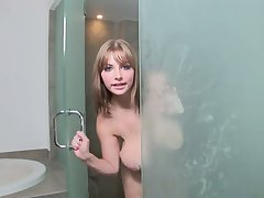 Watching my big boobed GF shower is hot and she would be an incredible light of one's life