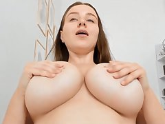 Big breasts inexpert unique webcam show