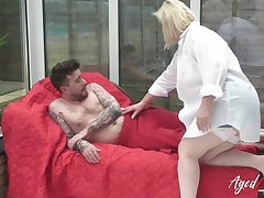 Cock sucking and mature hard rough sexual connection with Lacey Starr and Luke Hotrod in main roles