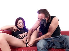 Smooth pussy fingering and shagging from behind for Natalie Hot