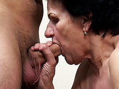 86 years old granny needs a young dick