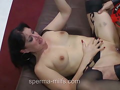 Insatiable Man Eating Cum - Milf Angie