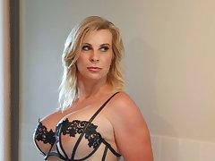 Sensual blonde mature Sammi Rox